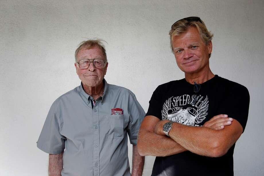 Filmmakers Bruce Brown Left And His Son Dana Photo Katie Falkenberg