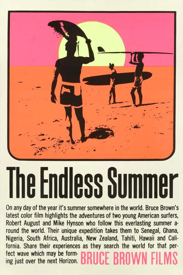A poster for the movie 'The Endless Summer', made by Bruce Brown Films, 1966. The film follows two surfers searching for the perfect wave. (Photo by Movie Poster Image Art/Getty Images) Photo: Movie Poster Image Art/Getty Images