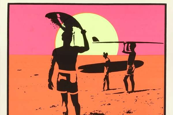 A poster for the movie 'The Endless Summer', made by Bruce Brown Films, 1966. The film follows two surfers searching for the perfect wave. (Photo by Movie Poster Image Art/Getty Images)