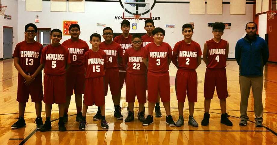 The Harmony Science Academy seventh grade team, coached by Frank Figueroa, picked up back-to-back victories against the Cigarroa Red and the Memorial Eagles. Photo: Courtesy Photo