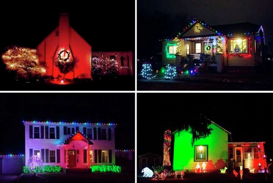 christmas lights in a wide variety of colors and styles adorn homes across midland for