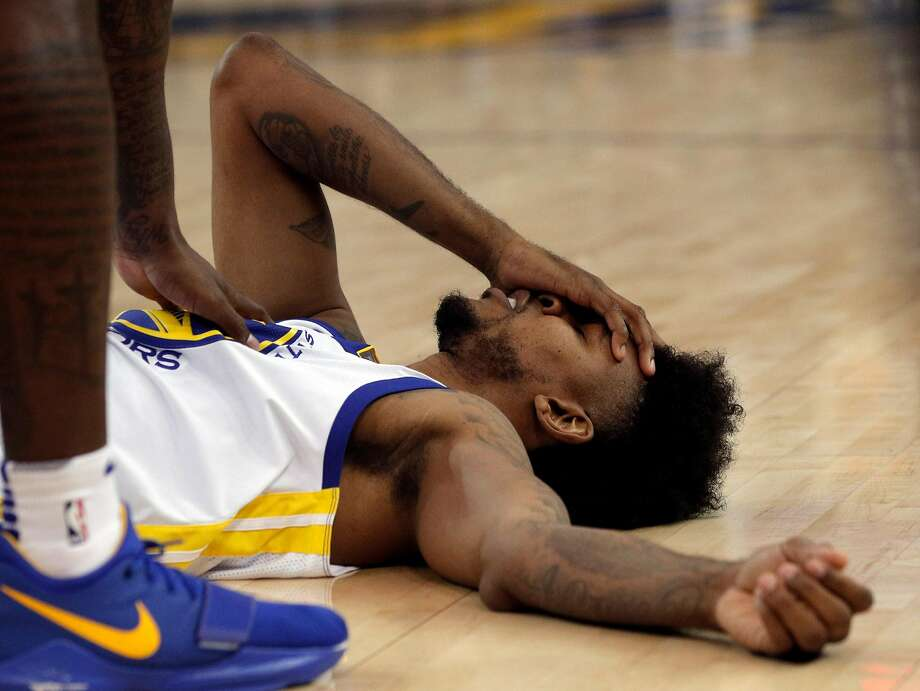Nick Young was sidelined after he was concussed Dec. 11 while trying for a rebound against Portland. Photo: Carlos Avila Gonzalez, The Chronicle