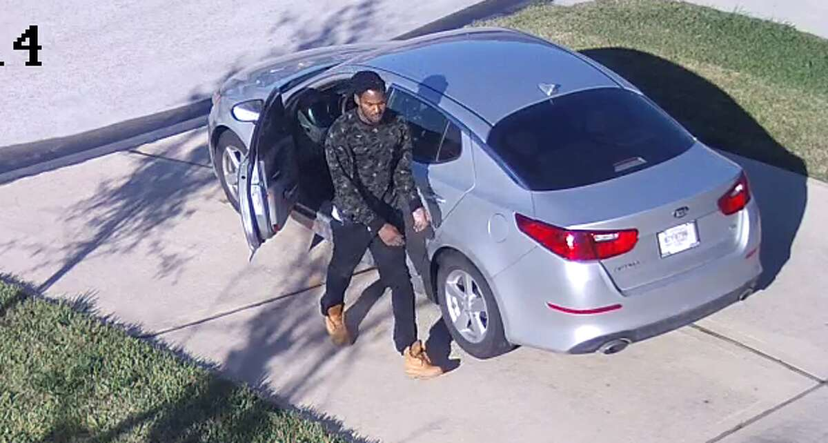A package thief was caught on surveillance video tripping over himself while stealing a box from the front of a Houston home Dec. 8. It appears on the surveillance images that the package was too heavy for him.