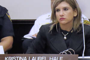 Acting City Attorney Kristina Laurel Hale at City Council special meeting on May 8, 2017.