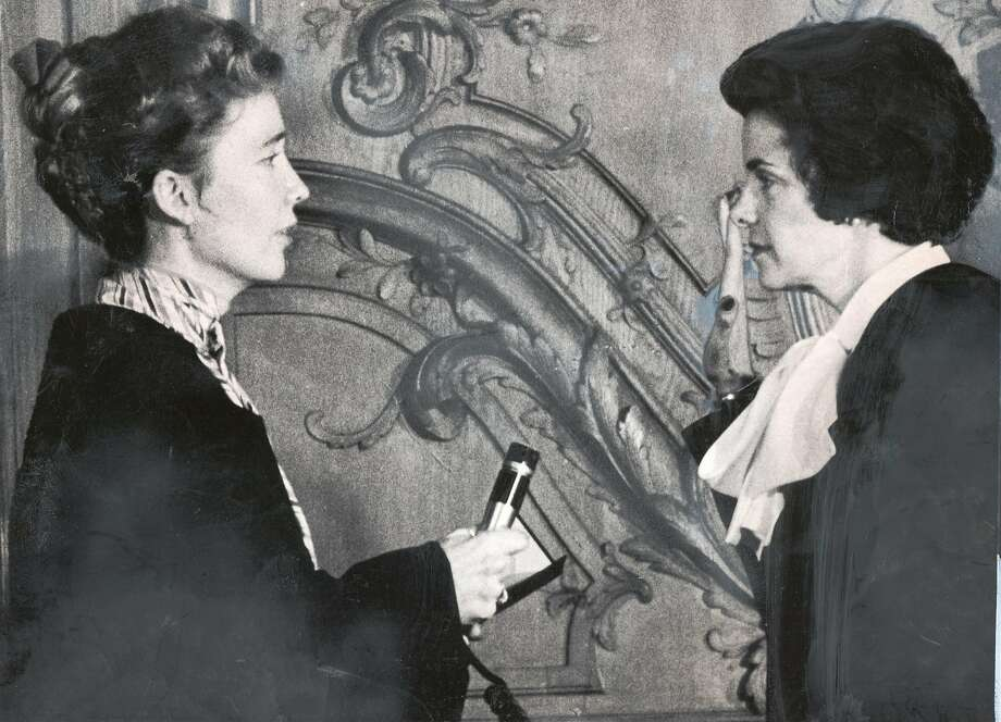 Chief Justice Rose Bird (left) held a microphone so the crowd could hear the swearing in of Dianne Feinstein as the new mayor of San Francisco on December 4, 1978. Feinstein became the mayor after the murders of Mayor George Moscone and Supervisor Harvey Milk. Photo: John O'Hara, The Chronicle