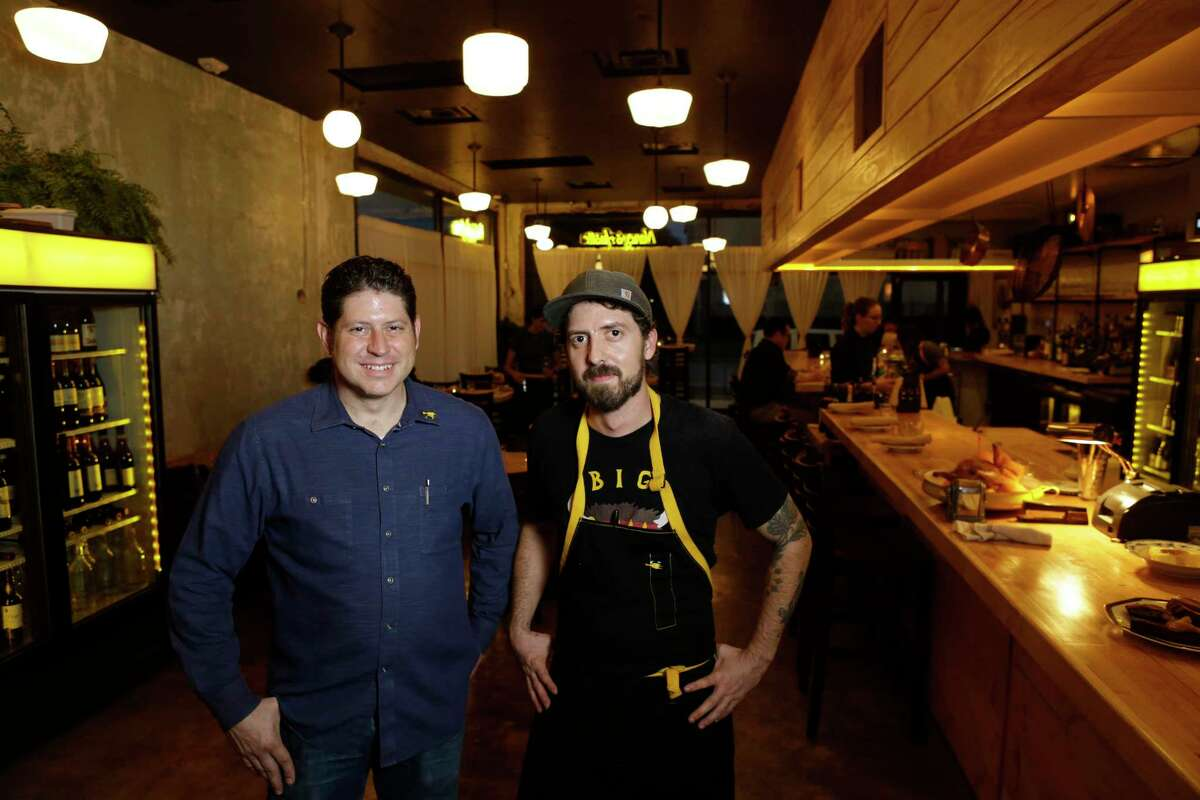 Sean Jensen, general manager and partner, left, and chef Jason Vaughan, right, at their new Nancy Hustle in EaDo.