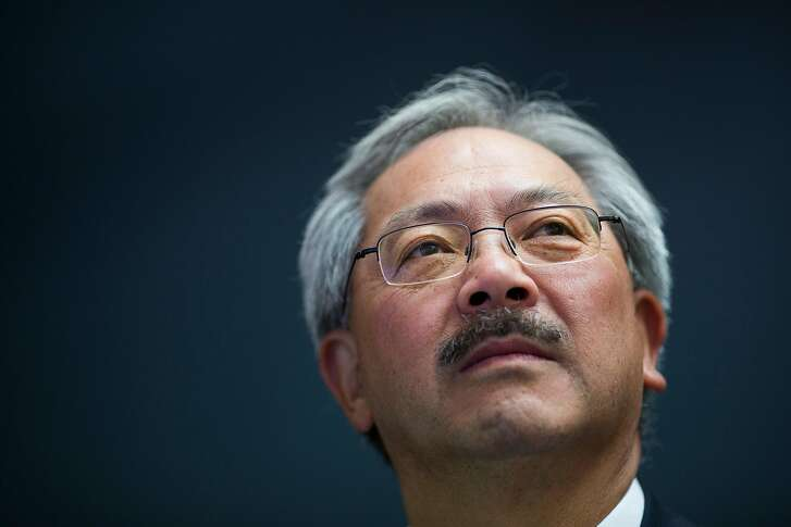 San Francisco Mayor Ed Lee looks on during a tour of the new Asian Art Museum exhibit Out of Character: Decoding Chinese Calligraphy in San Francisco, Calif. on Wednesday, Oct. 3, 2012.
