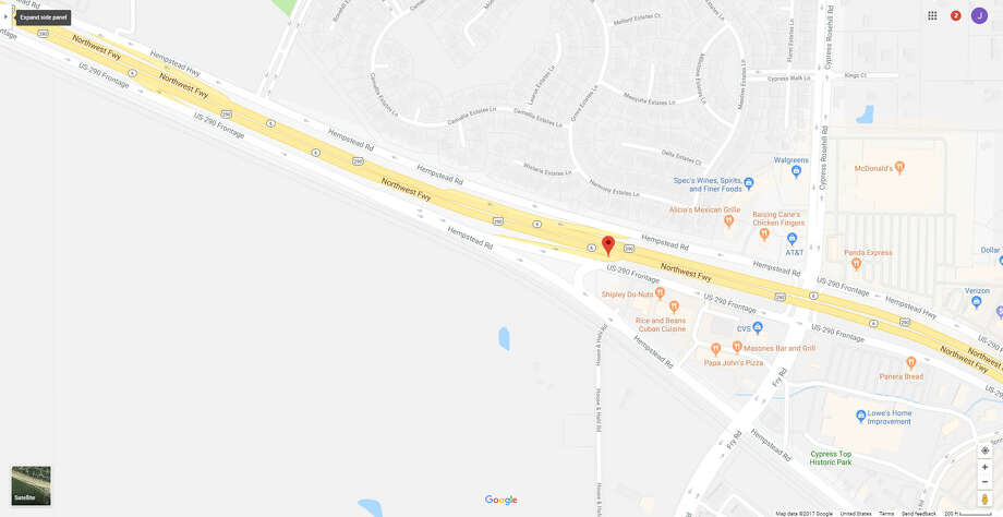 FILE - A screenshot of a Google Maps image of the 24800 block of the Northwest Freeway in Cypress, Texas. On Dec. 12, 2017, Harris County Sheriff's deputies reported a man suffered a gunshot wound at an area gun range. Photo: File/Google
