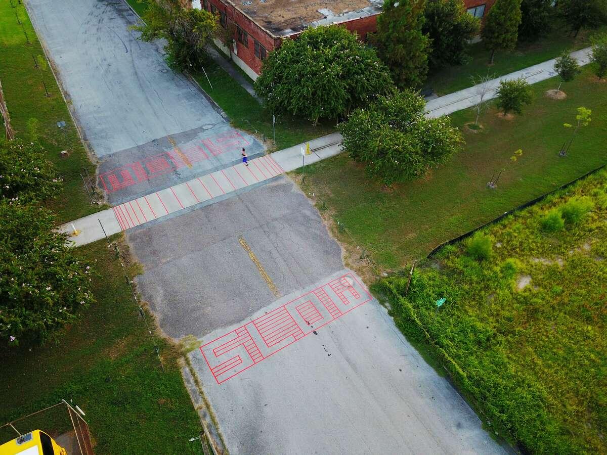 Tactical urbanism in EaDo in Houston.