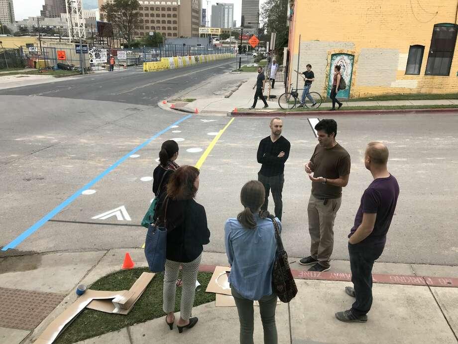 Asakura Robinson's tactical urbanism workshop in East Austin. Photo: Asakura Robinson