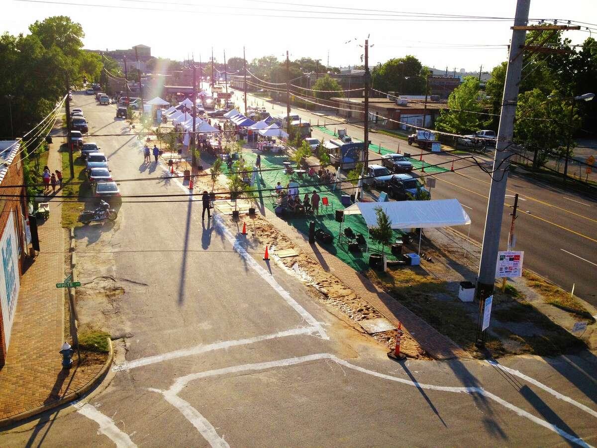 Better Block event on Washington Avenue in Houston.