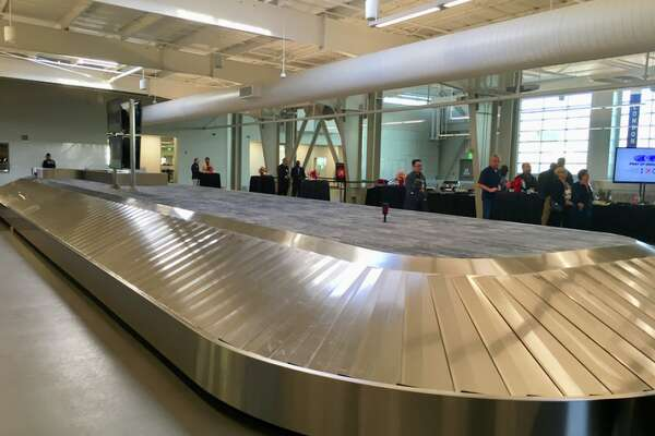 One of two new baggage carousels at Oakland's upgrades International Arrivals Building