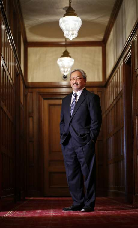 Mayor Ed Lee at City Hall in 2012. Photo: Russell Yip, The Chronicle