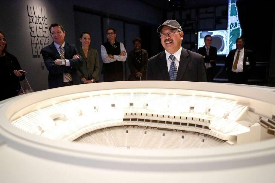 Mayor Ed Lee attends a tour of the Warriors' Chase Center on Nov. 7. Photo: Amy Osborne, Special To The Chronicle