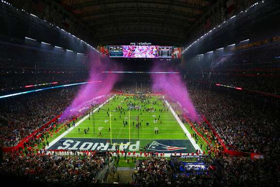 Confetti fills the air at NRG Stadium after the New England Patriots rallied to defeat the Atlanta Falcons in overtime in Super Bowl LI. The thrilling game saw the Falcons roll to a halftime lead and then add a third-quarter touchdown to go up 28-3. But the Patriots held them scoreless the rest of the way and tied the game with 57 seconds left in regulation. A quick overtime touchdown gave New England its fifth NFL title, 34-28.