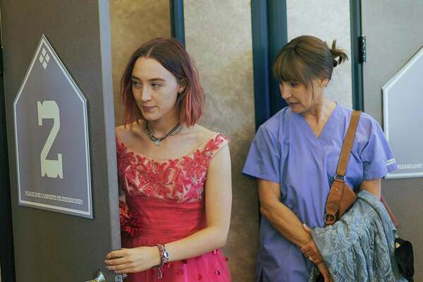 "Saoirse Ronan, left, and Laurie Metcalf, play mother and daughter in ""Lady Bird."""