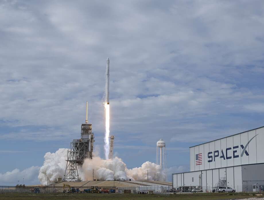 The SpaceX Falcon 9 rocket, with the Dragon spacecraft onboard, launches from NASA's Kennedy Space Center in June 2017. Photo: Bill Ingalls/NASA, NASA Via Getty Images