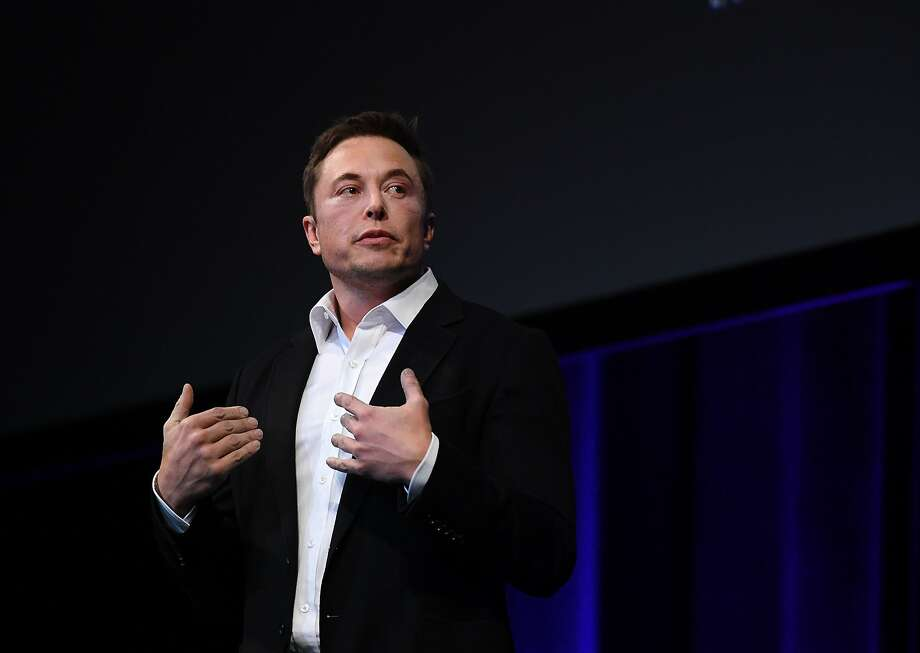 SpaceX CEO Elon Musk speaks at the International Astronautical Congress on September 29, 2017 in Adelaide, Australia. Musk detailed the long-term technical challenges that need to be solved in order to support the creation of a permanent, self-sustaining human presence on Mars. Photo: Mark Brake, Getty Images
