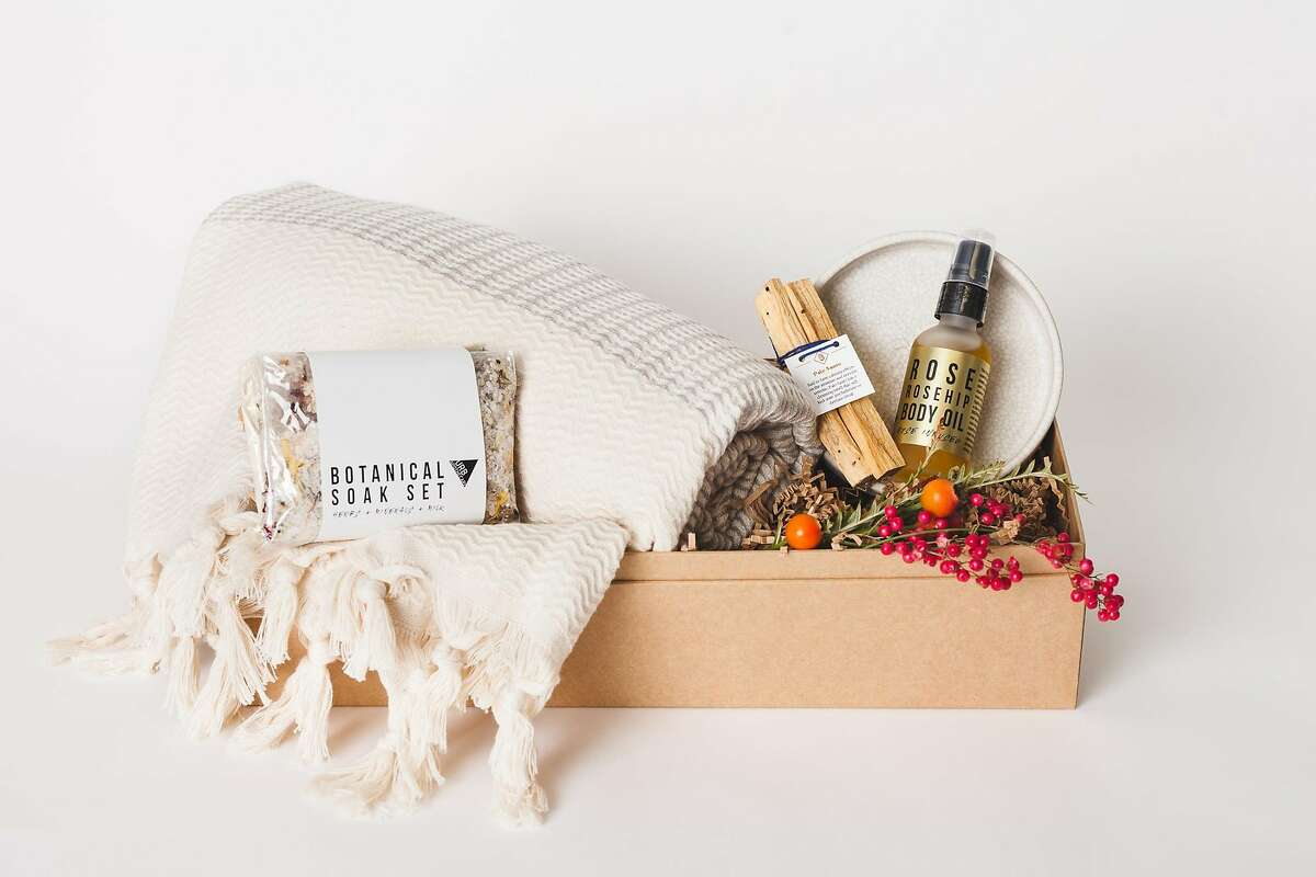 Bestowe is a new business that puts together artisan products selected by Oakland graphic designer Catherine Weis ($70-$150 at��https://bestowegifting.com).