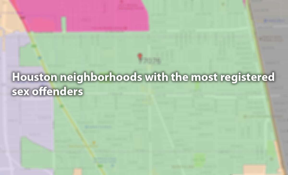 Houston neighborhoods with the most registered sex offenders