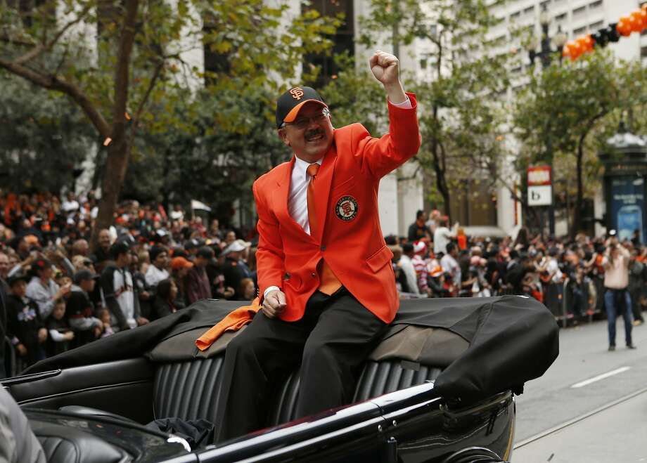 San Francisco Mayor Ed Lee celebrates during the World Series victory parade on Wednesday, October 31, 2012 in San Francisco, Calif. Photo: Beck Diefenbach, Special To The Chronicle