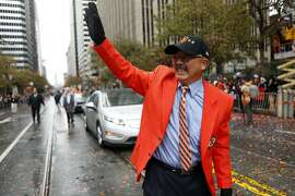San Francisco Mayor Ed Lee during Giants' World Series Parade on Market Street in San Francisco. on Friday, October 31, 2014.