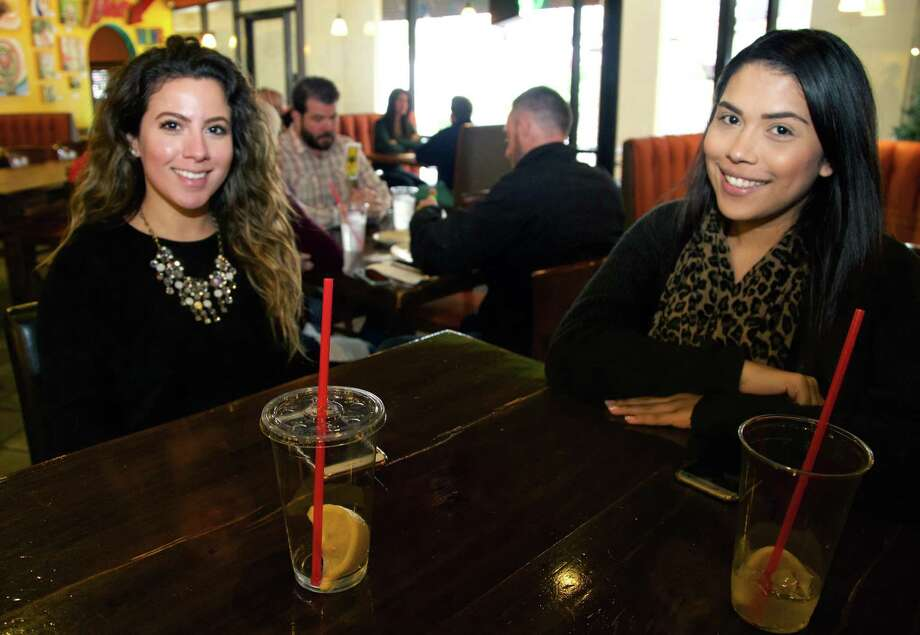 Maria Ochoa and Delicia Tejeda get together at Pam's Patio Kitchen. Photo: By Xelina Flores /For The Express-News