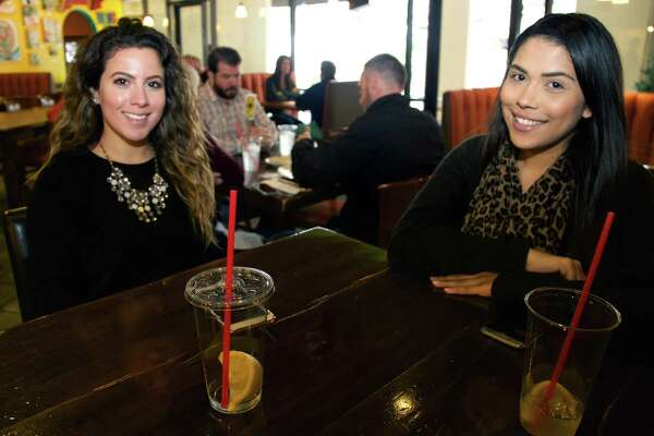 Maria Ochoa and Delicia Tejeda get together at Pam's Patio Kitchen.