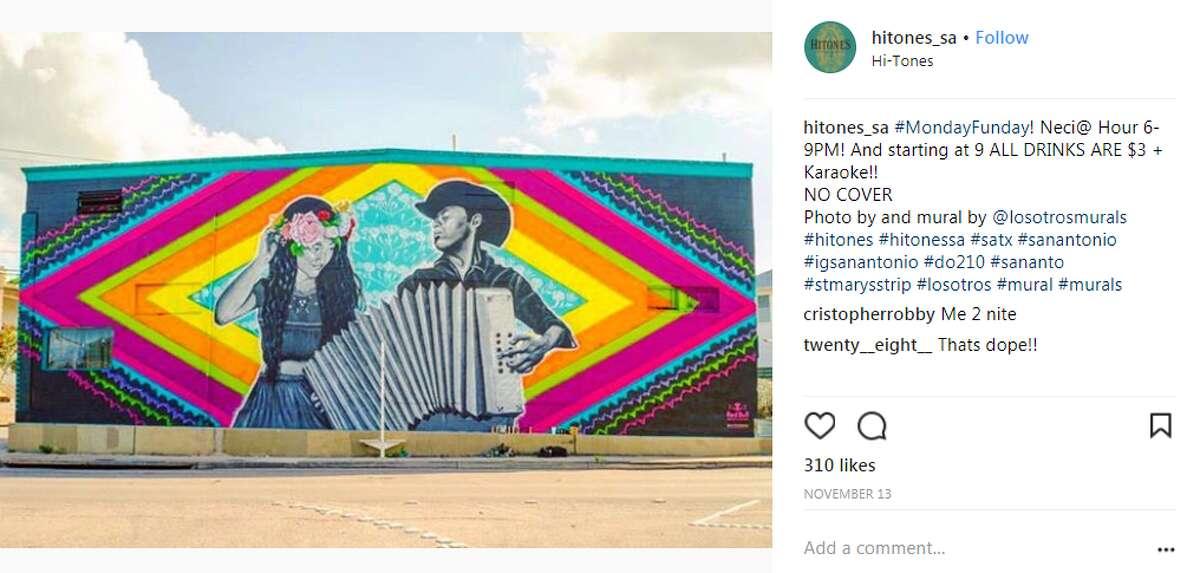 Fiesta mural at Hi-Tones - 621 E. Dewey Place By Los Otros