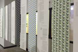 Wallpaper designs patterned from symbols and artifacts from the East End and Fifth Ward communities created by Master of Fine Arts (MFA) students alongside essays by creative writing students, and laid out by MFA students.
