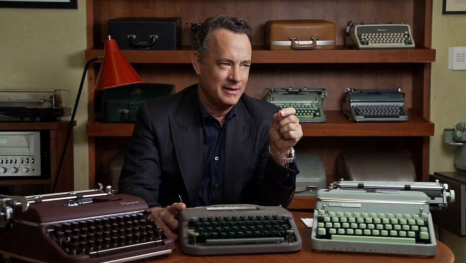 """Tom Hanks talk about his love of typewriters in """"California Typewriter,"""" one of the films on view this month in a limited engagement at the UC Berkeley Art Museum and Pacific Film Archive. Photo: Courtesy BAMPFA"""