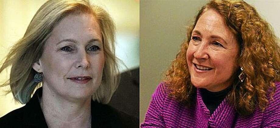 Sen. Kirsten Gillibrand and U.S. Rep. Elizabeth Esty. Photo: Alex Wong /Getty Images / Journal Register Co.