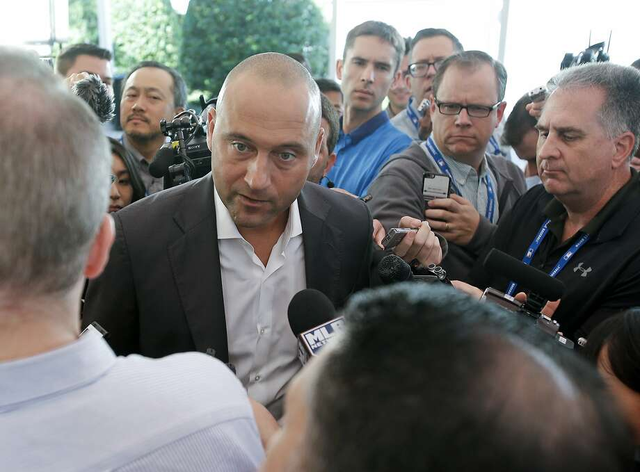 Derek Jeter, Marlins CEO and part owner, has faced criticism for his handling of the Giancarlo Stanton deal to the Yankees. Photo: John Raoux, Associated Press