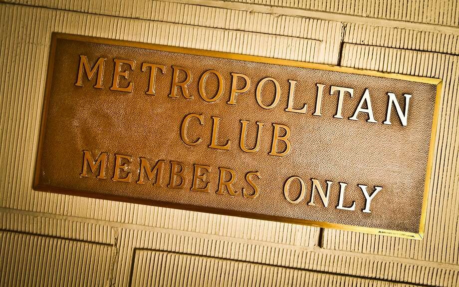The sign of the Metropolitan Club is seen on Friday, Sep. 2, 2011. Photo: Special To The Chronicle