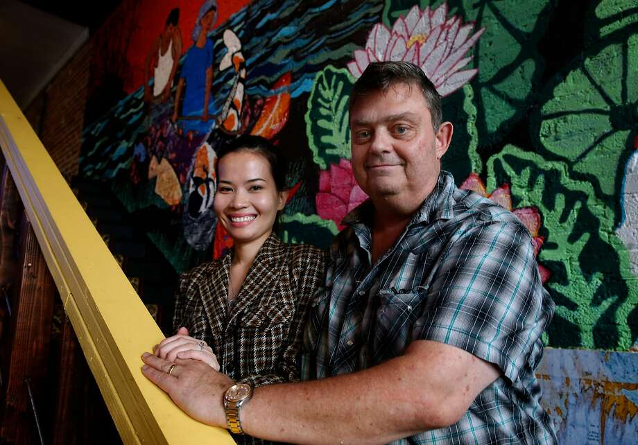 Quynh Nhu and her husband, Geoffrey Deetz, at their restaurant, the Temple Club, in Oakland. Photo: Paul Chinn, The Chronicle