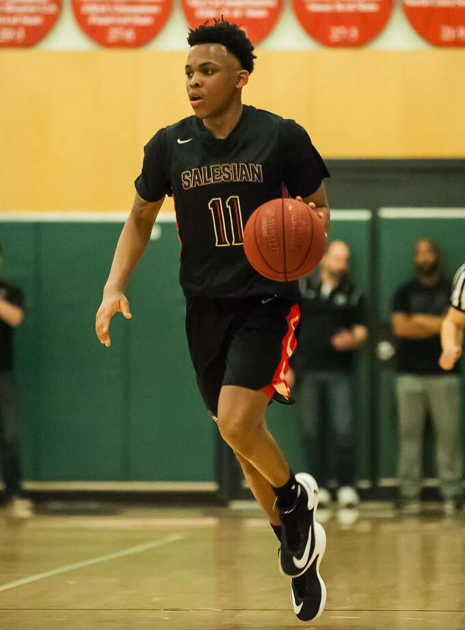 Top ranked Salesian-Richmond is led by James Akinjo, a UConn commit. They play at home on Friday vs. Folsom. Photo: Sam Stringer, MaxPreps