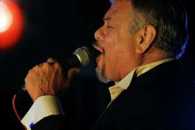 """Joe Hernandez, known fondly as """"Little Joe"""" by his legion of fans, sings his heart out during a 2014 holiday concert in Victoria. The legendary Tejano singer will be in San Antonio on Feb. 8, 2015, in concert at the Guadalupe Theater."""