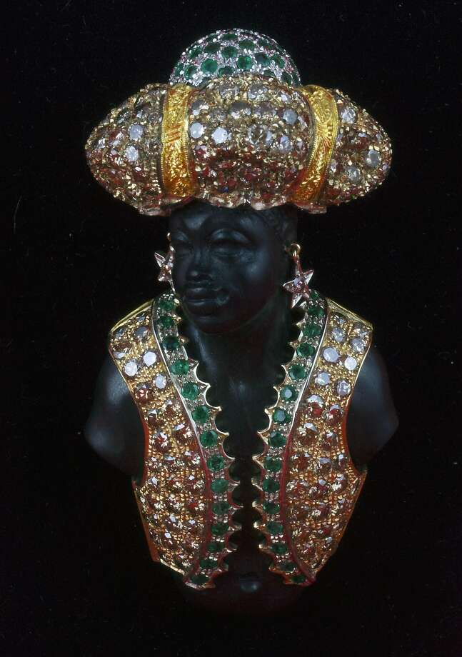 """Are these culturally sensitive times the right time to show a blackamoor brooch in an art show? Macabre jewelry from the Italian house of Codognato is featured in the exhibition """"Memento Mori,"""" at the Serge Sorokko Gallery, 361 Sutter St., San Francisco, opening Dec. 14, 2017 through January 2018. Photo: Courtesy Of Codognato"""