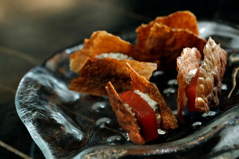 Smoked trout with farmer's cheese on rye served the Gibson. Photo: Carlos Avila Gonzalez, The Chronicle