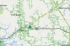 A vehicle wreck that downed multiple power lines and utility poles has caused a power outage in North Vidor in the Timberlane Street and Maplewood Drive area.