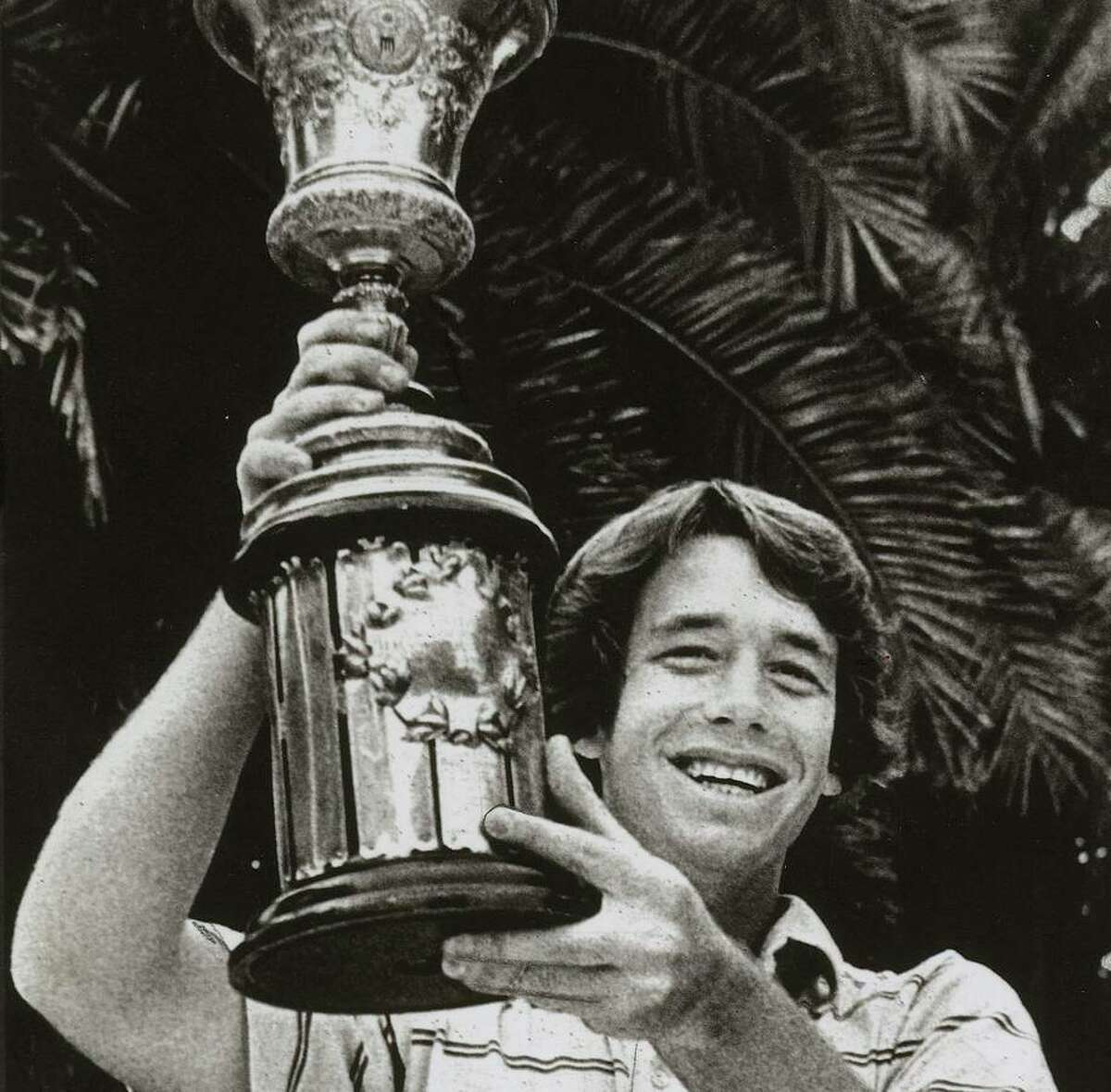 Nathaniel Crosby, then 19, poses with the trophy after winning the 1981 U.S. Amateur at the Olympic Club in San Francisco.
