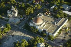 Temple Beth-El in San Antonio, seen from the air in 2017.