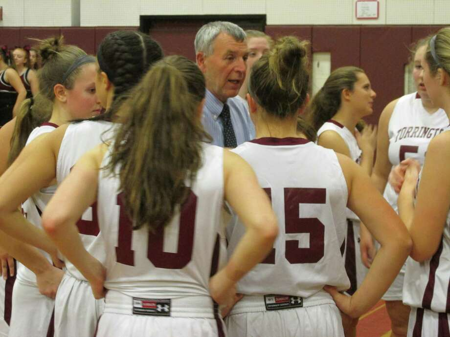 Torrington coach Mike Fritch and his staff look forward to a long season of instruction for their young team after an opening game blowout loss to Seymour Tuesday night at Torrington High School. Photo: Peter Wallace / For Hearst Connecticut Media