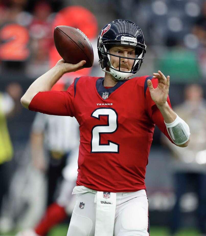 T.J. Yates will be the Texans' starting quarterback Sunday at Jacksonville. Photo: Karen Warren, Staff / © 2017 Houston Chronicle