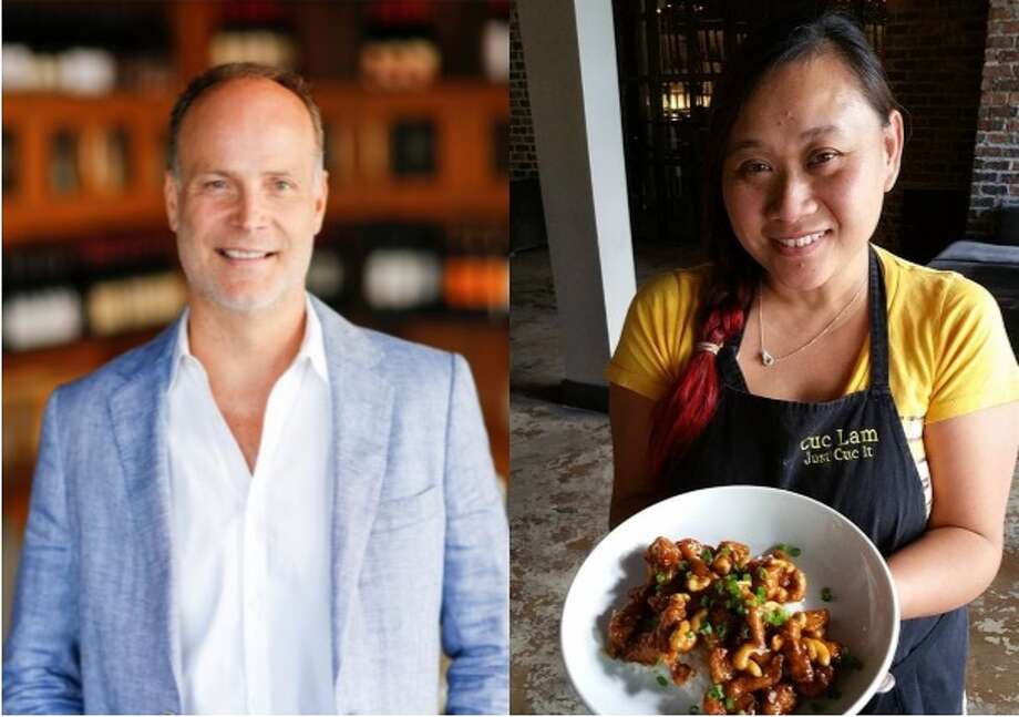 Restaurateur Jerry Lasco, left, is collaborating with Cuc Lam, right,  to open Sing, a new Singaporean-inspired restaurant opening in the Garden Oaks/Oak Forest neighborhood in spring 2018. The restaurant also will feature dishes from China, Vietnam, Thailand, India and Malaysia. Photo: Sing