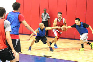 Games at PickUp USA Fitness are timed, scored, and officiated by trained referees. Members show up and drop into the rotation of 10-minute games that run back to back.