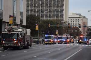 Firefighters on Wednesday responded to a fire at the Grand Hyatt hotel in downtown San Antonio.