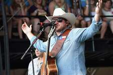 MANHATTAN, KS - JUNE 24:  Singer/Songwriter Josh Abbott - Josh Abbott Band perform at Kicker Country Stampede - Day 2 on June 24, 2016 in Manhattan, Kansas.