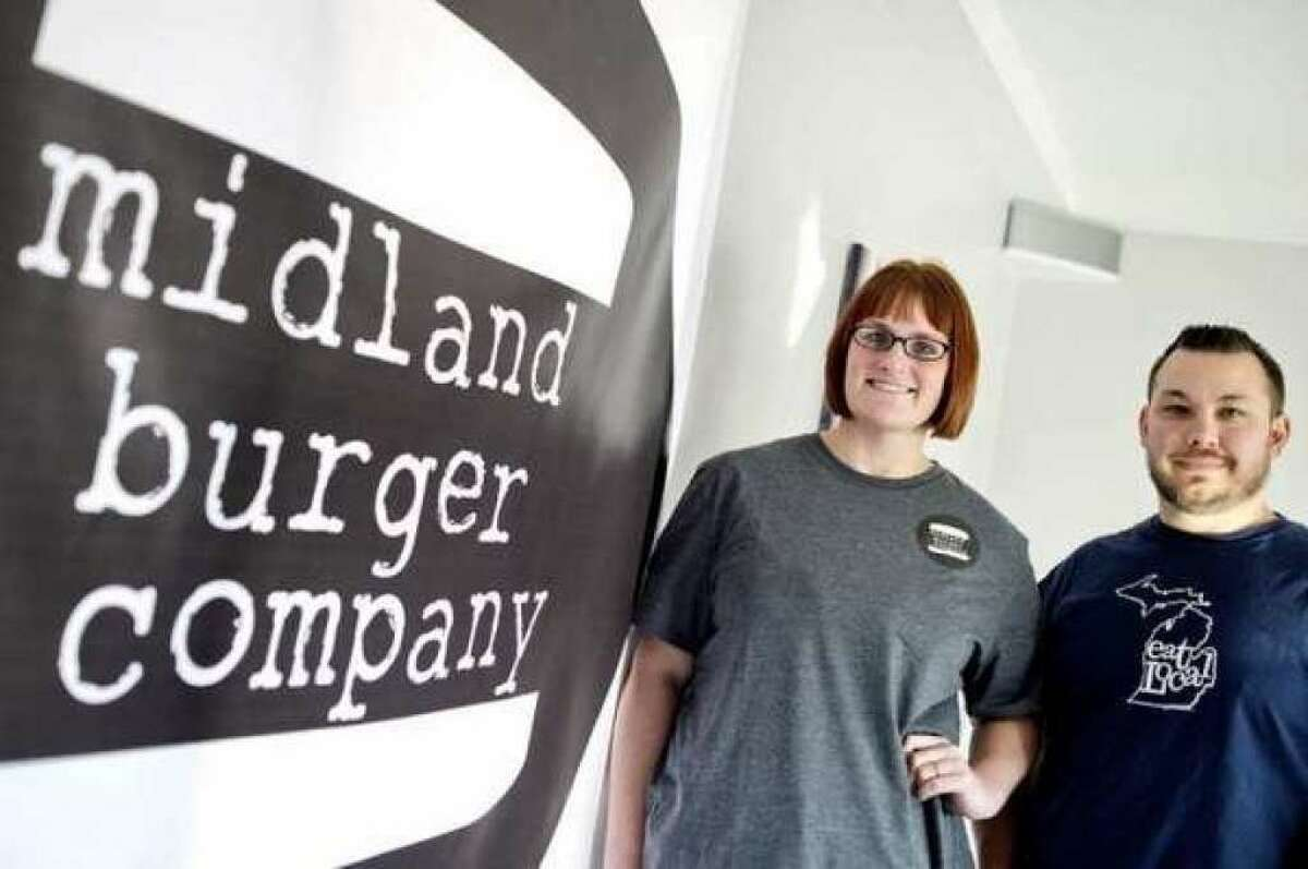 Jim and Ashley Welch co-own Midland Burger Co., a food truck that offers a rotating menu of artisanal burgers, fries, poutine and aioli. The burger company is opening a permanent location downtown in 2018, and was nominated for 2017 Rookie Food Truck of the Year. (File Photo/Nick King)
