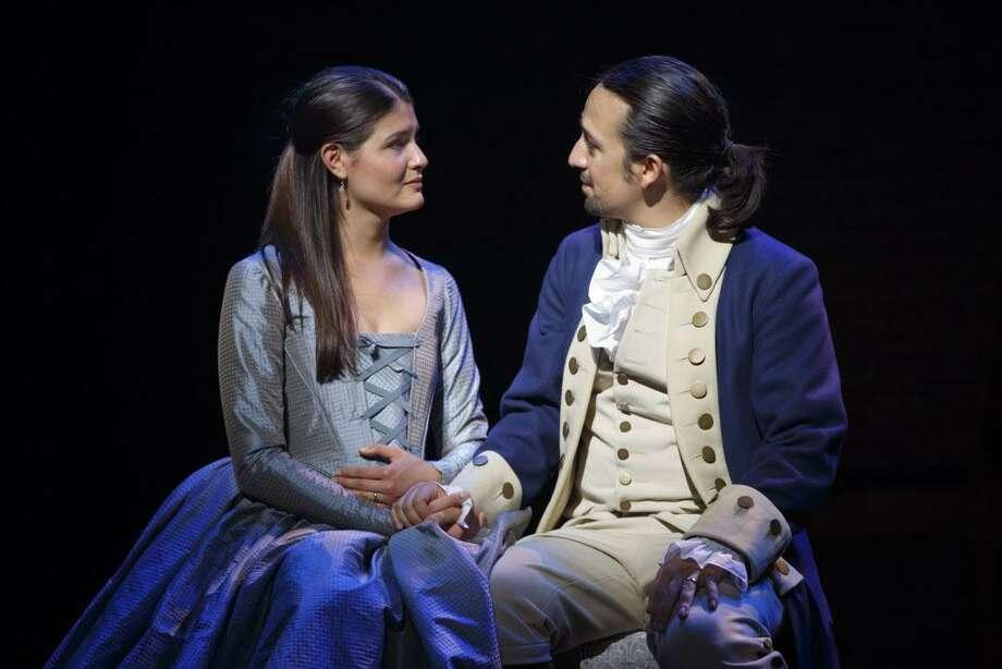 Phillipa Soo and Lin-Manuel Miranda play Eliza and Alexander Hamilton in the Broadway musical. Photo: Joan Marcus Photo / Online_yes